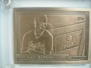 Cal Ripken Jr Topps Mint-Card Highland Mint Orioles Mint to Near Mint Condition#