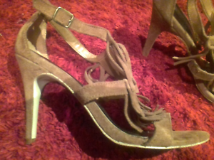 Just Because tan suede stilettos Valley View Salisbury Area Preview