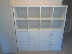 KALLAX Shelving unit with 8 inserts, white. (IKEA) Macquarie Park Ryde Area Preview