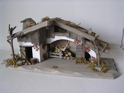 Krippen-Stall, Holzhaus, Weihnachtsdekoration, Weihnachtskrippe  Weihnachten Krippe