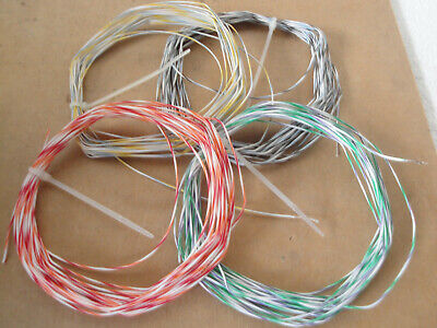 4 X 25ft 100ft Total - 24 Awg 600v Stranded Silver Plated Copper Teflon Wire