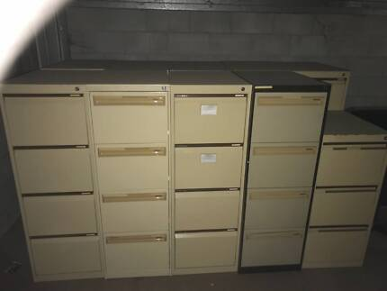 Filing Cabinets - Metal in good condition : filing cabinets gold coast - Cheerinfomania.Com