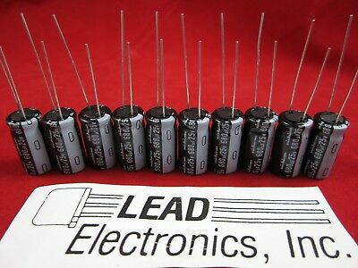 Qty 10 Nichicon 680uf 25-volt Ups1e681mpd 105-deg Low-esr Radial Leads