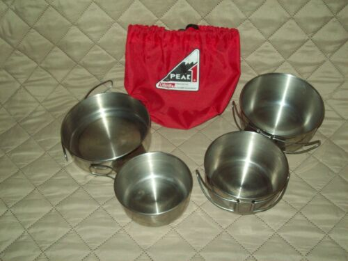 Coleman Peak 1 Stainless Steel Short Stack Backpacking Camp Trail Cookware Kit