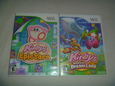 Kirby's Epic Yarn & Return To Dream Land Nintendo Wii (Case Only) No Game