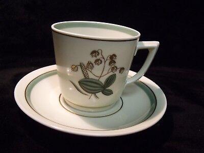 Vintage ROYAL COPENHAGEN Porcelain Demitasse Cup & Saucer 884 / 9535 ~ MINTY !