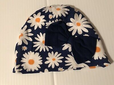 Daisy Flower Baby Girl Beanie Cap Hat Infant Size 12 Months