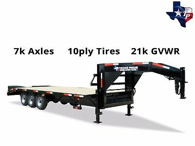 New 8 X 25 205 Gooseneck Equipment Trailer 21k Gvwr