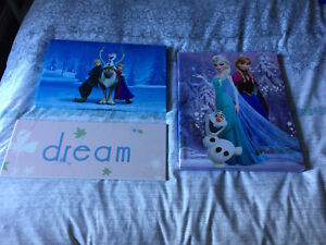 Kids wall art - $25 for all 3