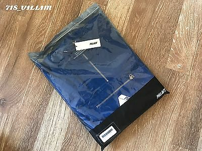 PALACE SKATEBOARDS TRI-FERG HALF ZIP HOOD BLUE SWEATSHIRT SZ M READY TO SHIP