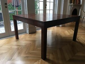 Large Square Dining Table Solid Timber Woollahra Eastern Suburbs Preview