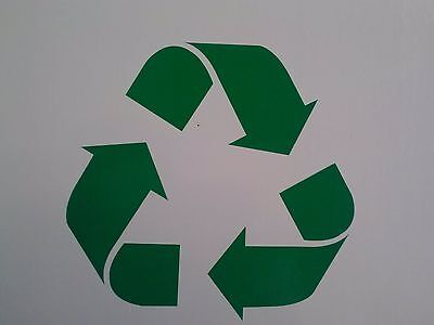 Recycle symbol decal sticker auto laptop helmet glass etc