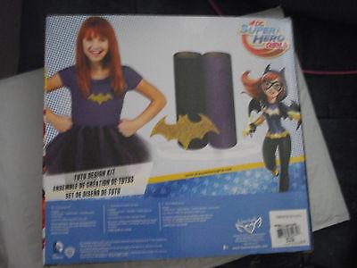 BRAND NEW DC Super Hero Girls Bat Girl Tutu Design Kit No Sew Patch - Tutu Kits