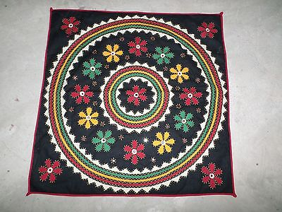 Vintage India Banjara Kuchi Rabari Ethnic Embroider Table Runner Throw Tapestry