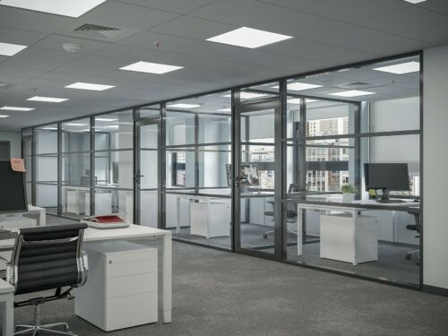CGP Office Partition System, Glass Aluminum Wall 12