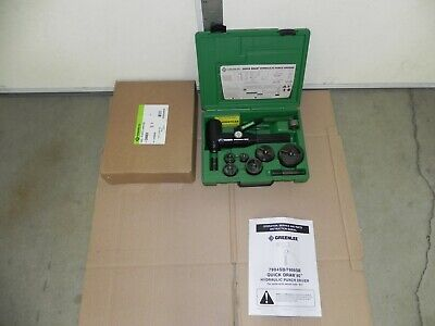 Greenlee 7906sb Quick Draw 90 Hydraulic Punch Driver Kit 12 - 2 Conduit Ext