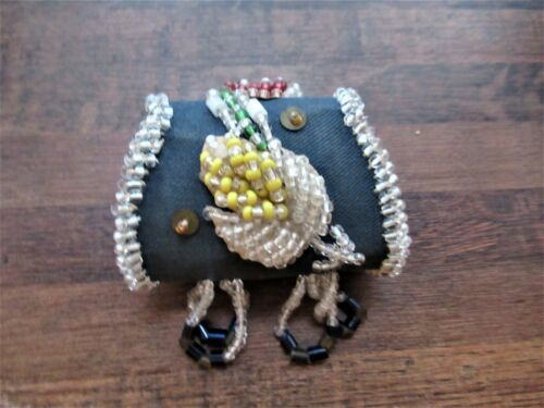 Small Iroquois Beaded Whimsy Lined Pouch/Purse c.a. 1900