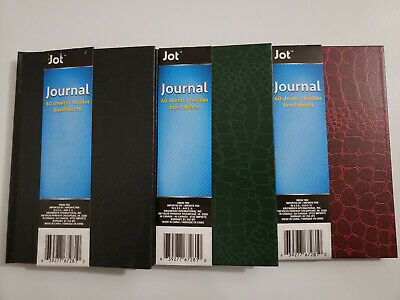 Jot Hard Vinyl Cover Journal Notebook 60 Sheet 5inx7in Assorted Color - Gloss Cover Journals