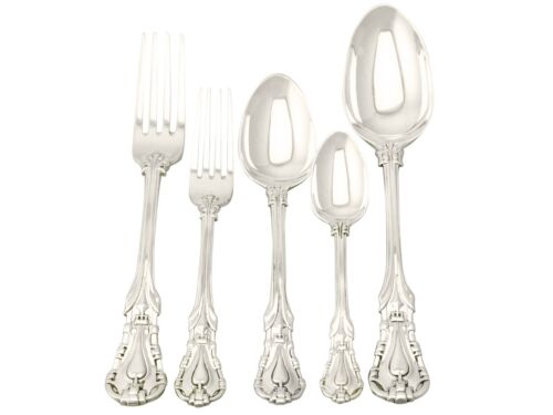 Victorian Sterling Silver Canteen Of Cutlery For Six Persons 1800-1849