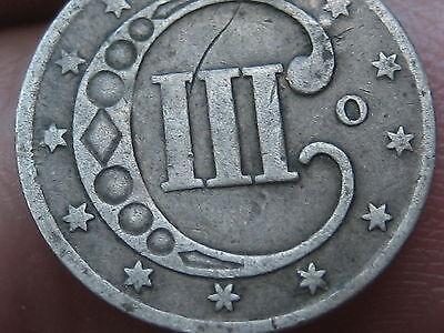 1851-O Three 3 Cent Silver Piece- VG/Fine Details- Rare