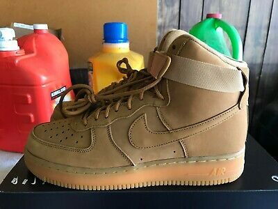 NEW Nike Air Force 1 High 07 LV8 WB SZ 12 Flax Outdoor Wheat Gum AF1