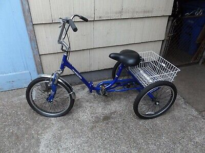 KENT BIKE BLUE TRICYCLE FOLDING BIKE LOCAL PICK UP ONLY