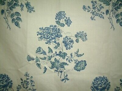 COLEFAX & FOWLER FABRIC LANGTON BLUE COLOURWAY  PRICE PER METRE.
