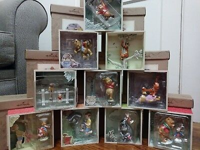 Hallmark Shadow Box 10-Piece Figurine Collection Disney's Winnie the Pooh *NEW*