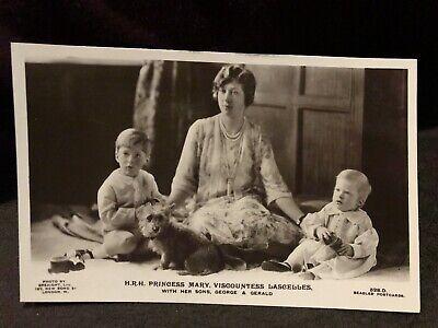 RPPC Royalty Princess Mary Lascelles & sons George & Gerald, Antique Postcard