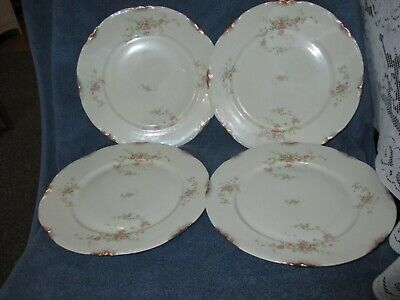 Warwick Old Abbey Dinner Plate Set of 4 Pink Roses 10