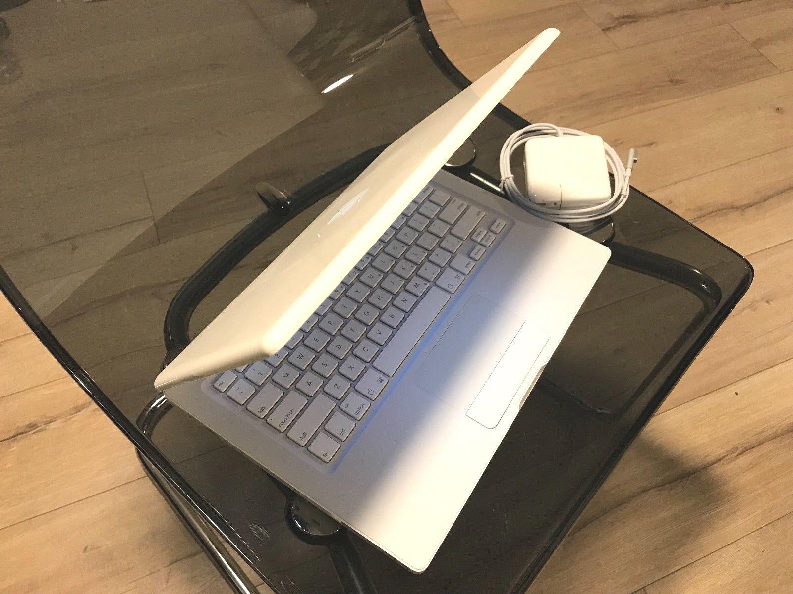 """Apple MacBook White 13"""" A1181 250GB HDD /2.4GHz./ 4GB RAM/ WiFi/ Cam/ MB403LL/A"""
