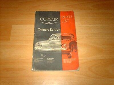 Ford Parts catalogue Corsair V4, illustrated, 2, 4 door + GT 1965