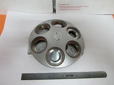 Microscope Part Polyvar Leica Reichert Nosepiece As Is For Optics Bin1e-p-25