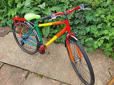 Bicycle multi coloured rainbow bike