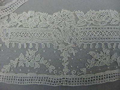 Antique Victorian Point de Gaze lace flounce