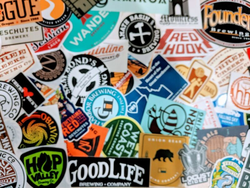 Craft Micro Brewery Sticker: Lot of 3: Beer, Brew,