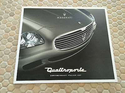 MASERATI OFFICIAL QUATTROPORTE, COUPE & SPYDER PRESS KIT CD ROM 2004 USA EDITION