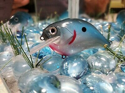 Custom painted 1.5  #113 square bill Crankbait Blue Pearl belly