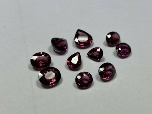 Lot of Ten (10) Fiery Red/Purple Rhodolite Garnet Gems - 21.3 TCW