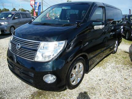 2007 Nissan Elgrand (#1366) Chameleon Pearl with Red Leather Moorabbin Kingston Area Preview