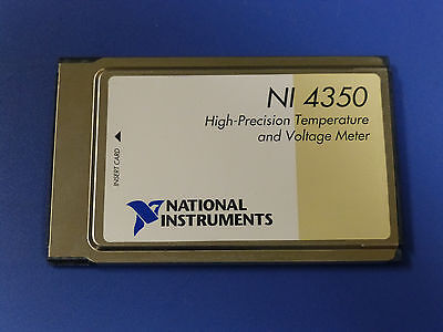 National Instruments Ni Daqcard-4350 Pcmcia Temperature Voltage Meter Card