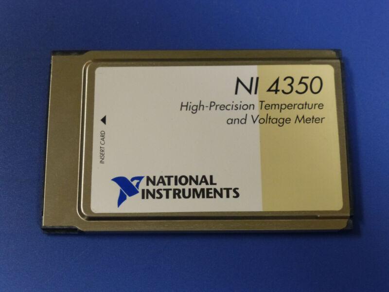 National Instruments NI DAQCard-4350 PCMCIA Temperature / Voltage Meter Card