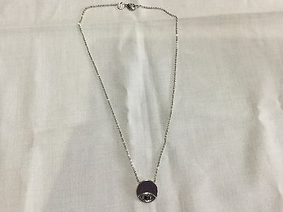 House of Harlow 1960 New & Gen. Silver Plated Necklace With Evil Eye Pendant
