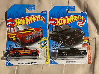 Hot Wheels '71 Datsun 510 And GMC Syclone Lot Of 2pcs