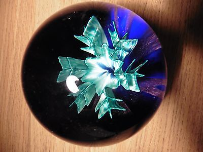 """Caithness paperweight  """"Floral Illusion"""" limited Edition"""