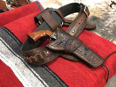 Custom Gun Belt And Holster Set Hand Of God Rig Cowboy Action](Cowboy Gun And Holster)