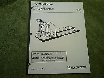 Prime Mover Electric Pallet Truck  Parts Manual Mx-80