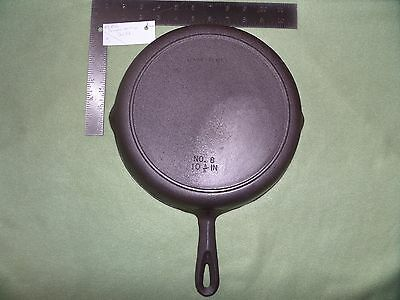 Birmingham Stove & Range Co. #8 Vintage Cast Iron SKILLET w Heat Ring USA Clean