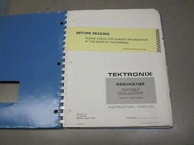 Tektronix 455 A2b2 Oscilloscope Operators Service Instruction Manual