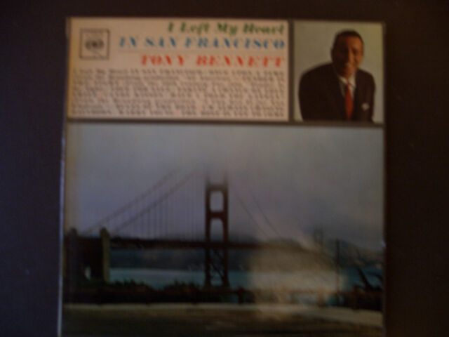 "Tony Bennett.   ""I Left My Heart In San Francisco"""